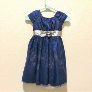 Royal Blue Girls' Dress Sz 6+ FREE Sweater